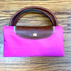NWT Longchamp Le Pilage Tote in Bubble Pink